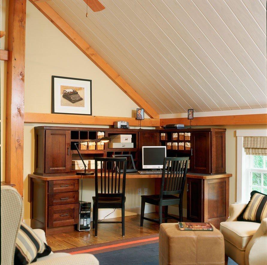 Timber Frame Loft Office