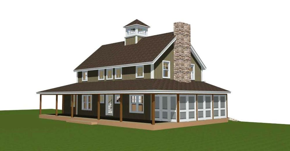Merrimack Farmhouse Front Elelvation