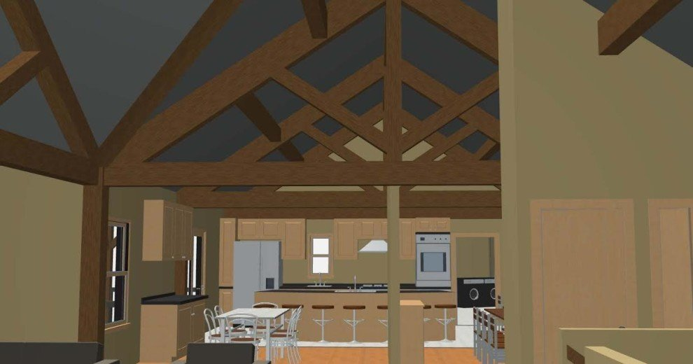 Cross Section Showing Post and Beam Frame