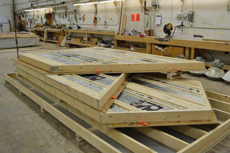 Wall Panels Constructed in YBH Factory