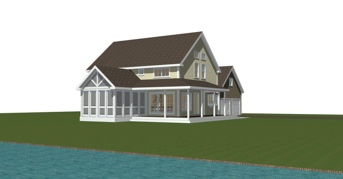 Custom Home Design - Traditional Barn HOme