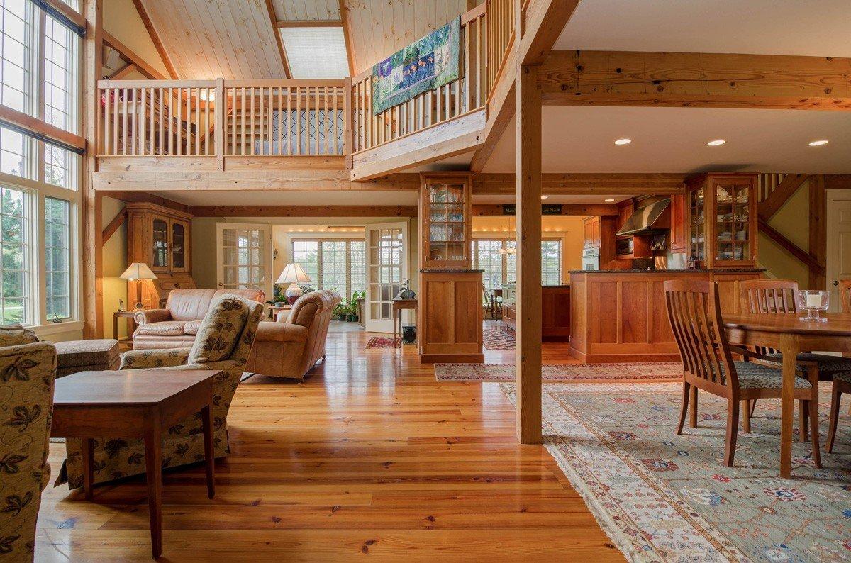 Timber Frame Custom Great Room