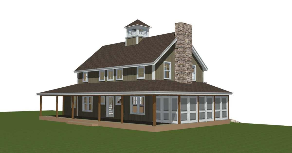 Merrimack Farmhouse - Timber Frame Prefabricated Panelized Custom Designed Farmhouse Barn