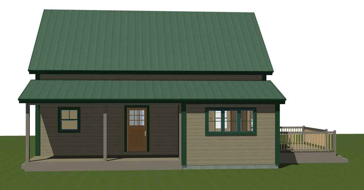 Post and Beam Small Barn Home Design