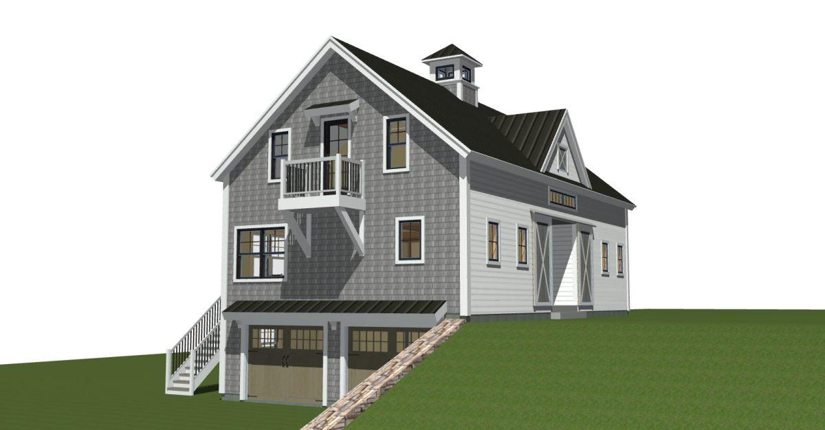 Panelized Timber Frame Custom Barn Home