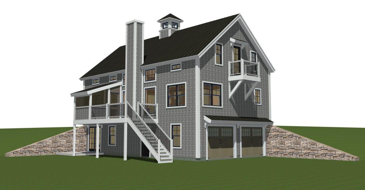 Prefabricated Panelized Timber Frame Barn Home