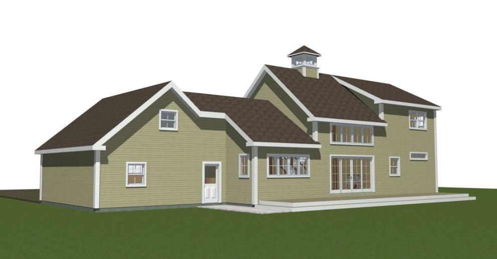 Farmhouse Plans Back Elevation