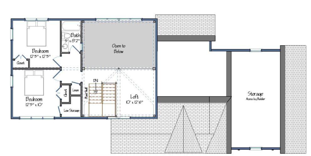 Farmhouse Floor Plan Level Two