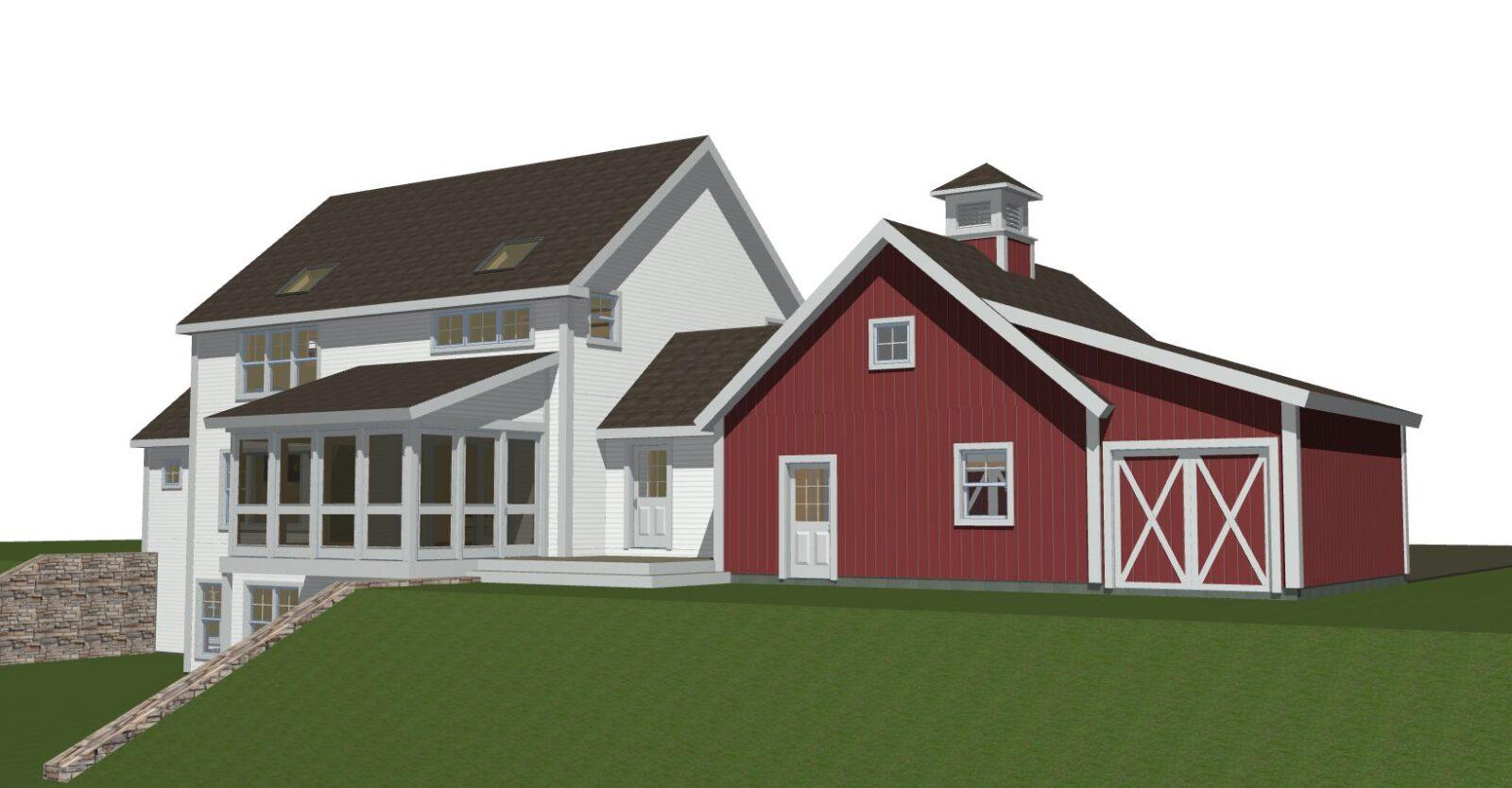 Clare Farmhouse Exterior Back 2