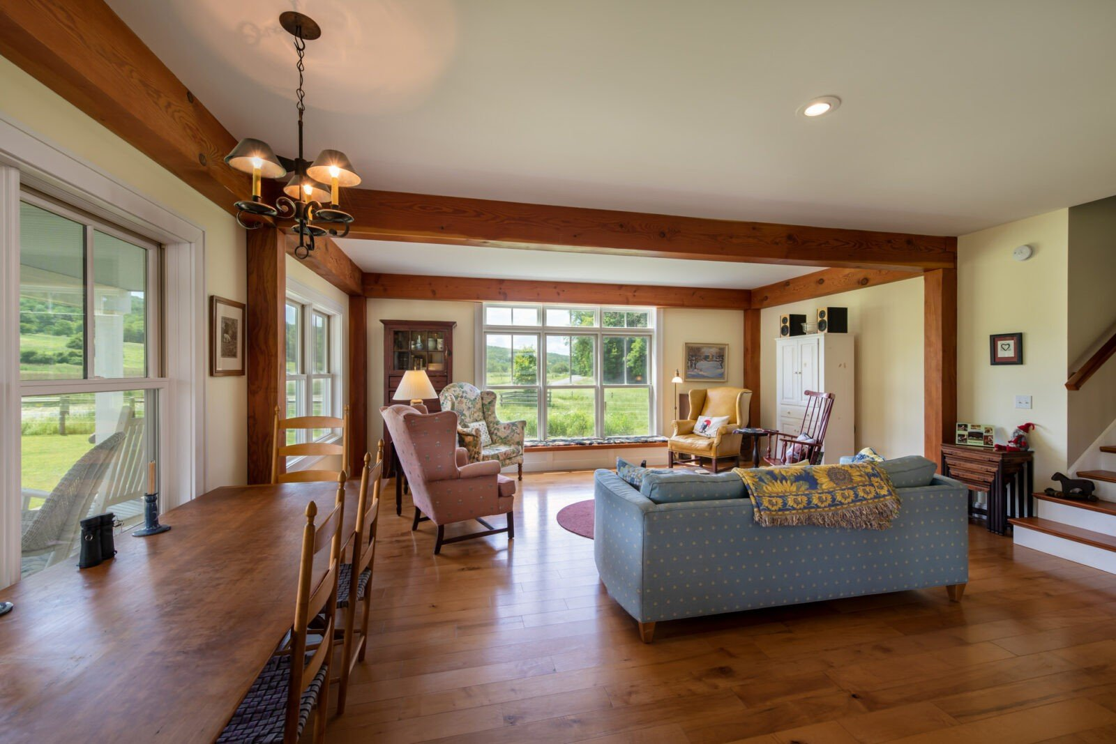 Cooperstown Farmhouse Living Room