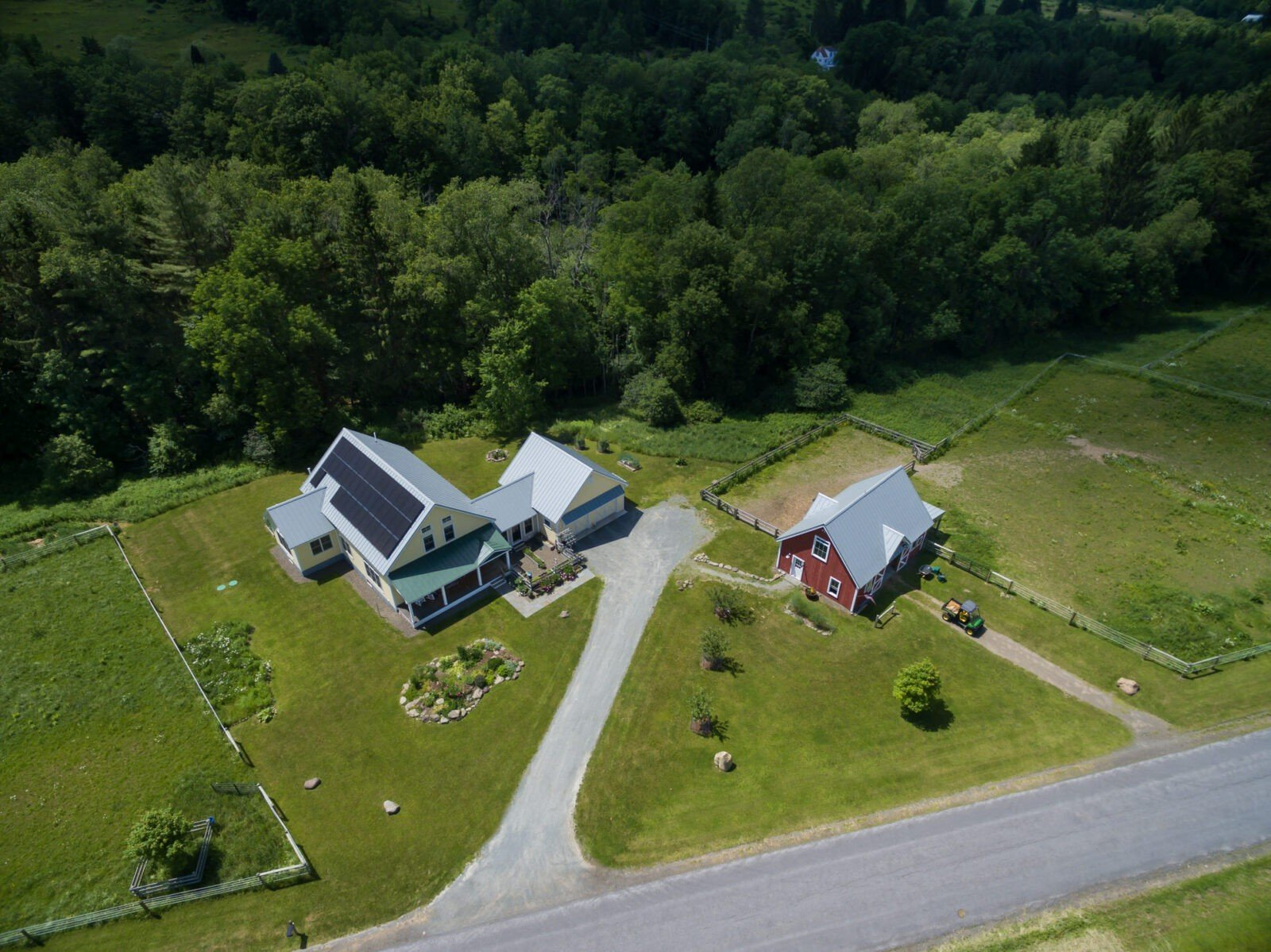 Cooperstown Farmhouse Drone Shot